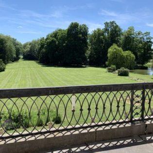 vue balcon suite Roi Soleil Château de Quincey